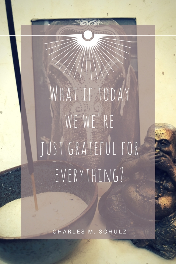 What if today we were just grateful for everything-